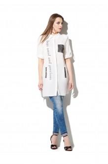 Блузки и туники DiLiaFashion 0107 белый фото 2