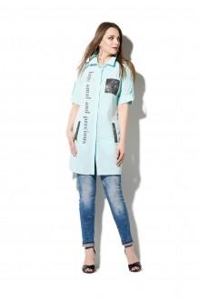 Блузки и туники DiLiaFashion 0107 голубой фото 2