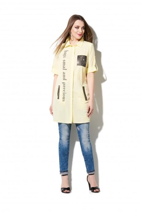 Блузки и туники DiLiaFashion 0107 жёлтый