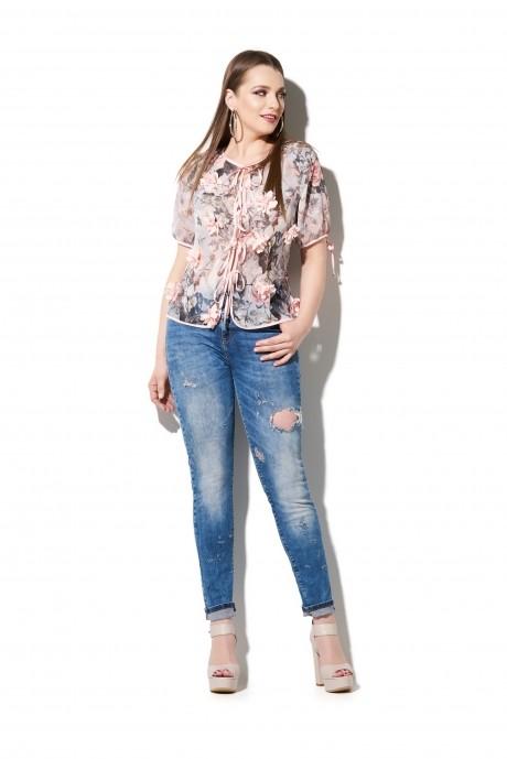Блузки и туники DiLiaFashion 0110 розовый