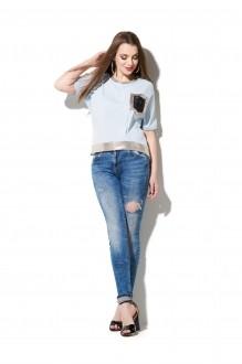 Блузки и туники DiLiaFashion 0111 голубой фото 2