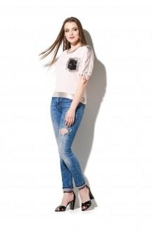 Блузки и туники DiLiaFashion 0111 розовый фото 2
