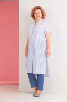 Ksenia Stylе 1530 голубая полоска/синие брюки