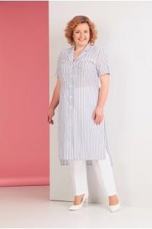 Ksenia Stylе 1530 синяя полоска/белые брюки