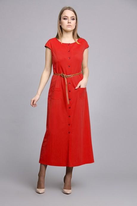 Длинные платья, платья в пол Fantazia Mod 3178 красный
