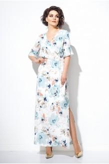 Длинные платья, платья в пол Jerusi 1846 крупные цветы фото 1