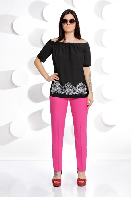 Брючные костюмы /комплекты Мублиз 239 черная блуза