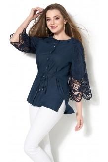 Блузки и туники DiLiaFashion 0115 -3 синий фото 1