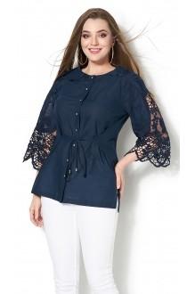 Блузки и туники DiLiaFashion 0115 -3 синий фото 2