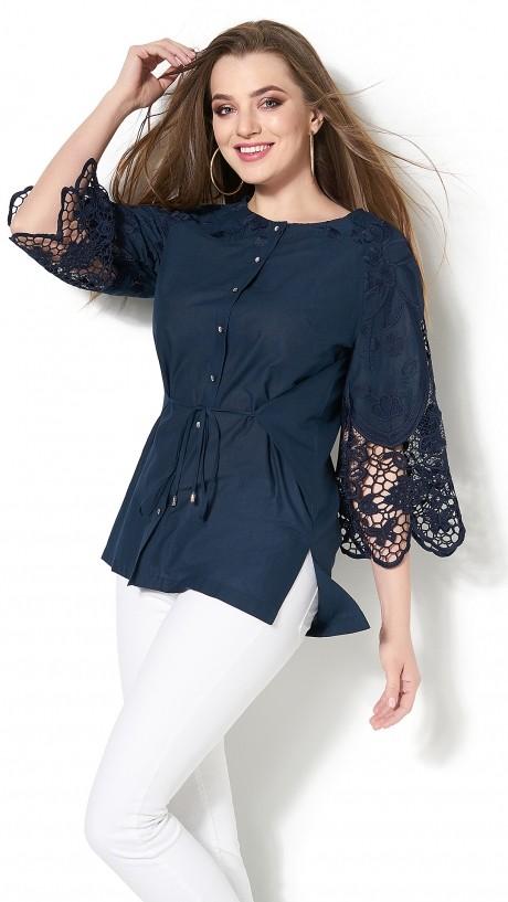 Блузки и туники DiLiaFashion 0115 -3 синий