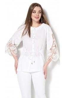 Блузки и туники DiLiaFashion 0115 -3 белый фото 1