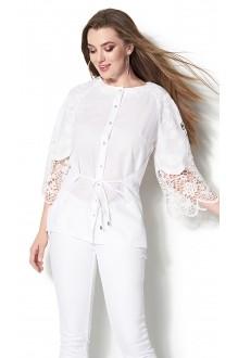 Блузки и туники DiLiaFashion 0115 -3 белый фото 2