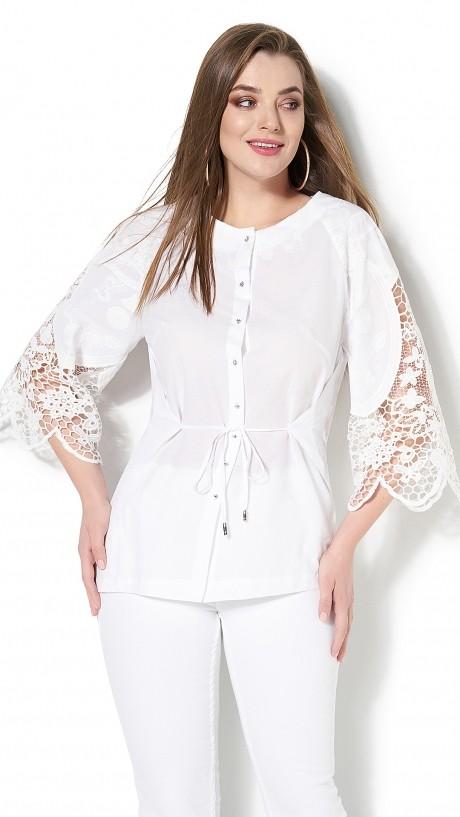 Блузки и туники DiLiaFashion 0115 -3 белый