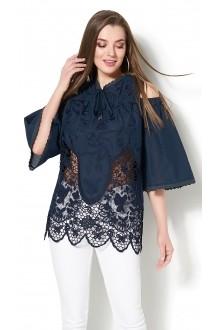 Блузки и туники DiLiaFashion 0114 -3 синий фото 2
