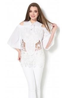 Блузки и туники DiLiaFashion 0114 -3 белый фото 1