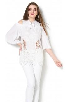 Блузки и туники DiLiaFashion 0114 -3 белый фото 2