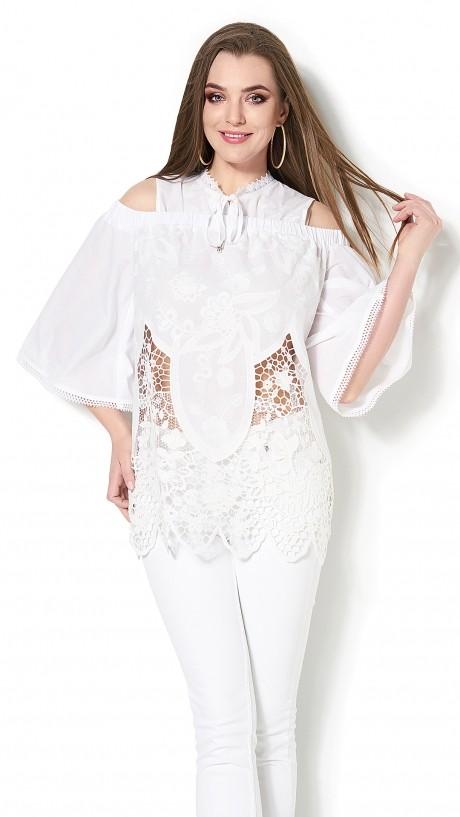Блузки и туники DiLiaFashion 0114 -3 белый
