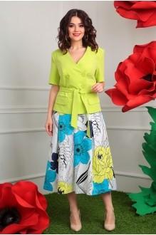 Мода-Юрс 2328 салат + юбка в цветы