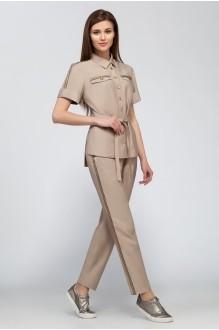 Брючные костюмы /комплекты ЛаКона 1115 бежевый фото 1