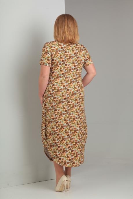 Diamant 1290-платье коричневые цветы