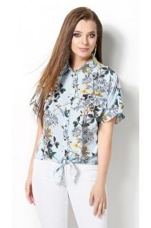 Блузки и туники DiLiaFashion 0120 -3 голубой фото 1