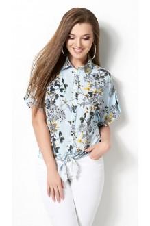 Блузки и туники DiLiaFashion 0120 -3 голубой фото 3