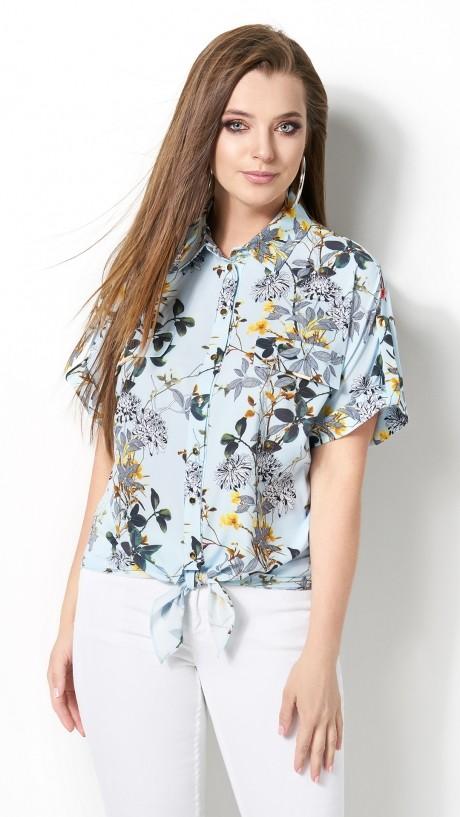 Блузки и туники DiLiaFashion 0120 -3 голубой