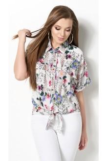 Блузки и туники DiLiaFashion 0120 -3 белый фото 3