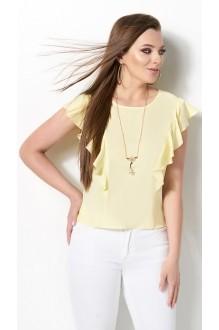 Блузки и туники DiLiaFashion 0119 -3 жёлтый фото 2