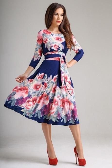 Повседневные платья *Распродажа *Распродажа Teffi Style 1217 пионы