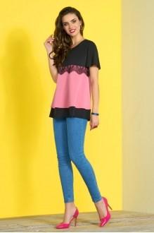 Lissana 3425 светло-розовый+черный