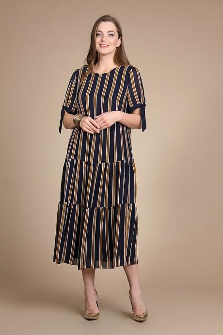 Длинные платья, платья в пол Olegran Д-509 полоска