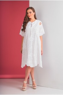 Повседневные платья Elletto 1553 белый фото 2
