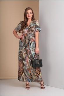 Длинные платья, платья в пол Анастасия Мак 483 коричнево-голубые оттенки фото 2