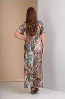 Длинные платья, платья в пол Анастасия Мак 483 коричнево-голубые оттенки фото 3