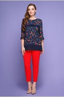 Магия Моды 1380 с красными брюками