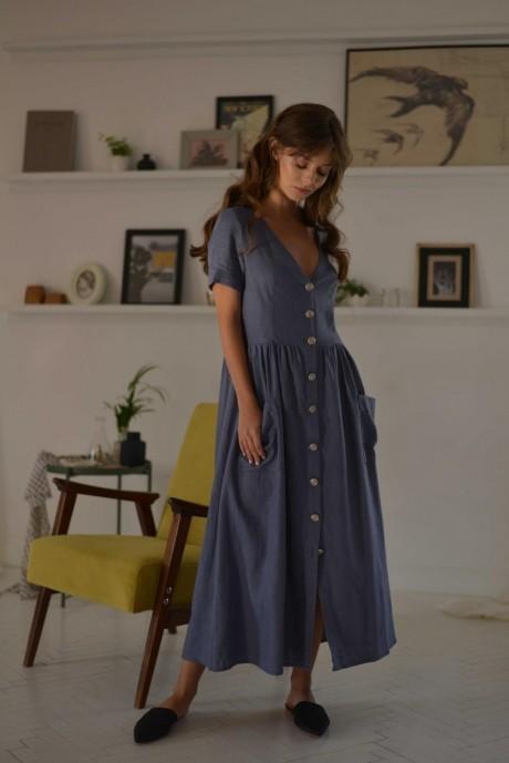 Повседневные платья PUR PUR 01-602 голубой