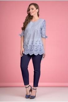 Лилиана 645N-В с синими брюками