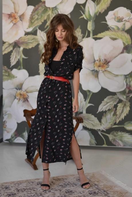Длинные платья, платья в пол PUR PUR 01-596 черный