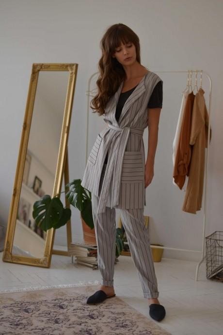 Брючные костюмы /комплекты PUR PUR 01-603 серый