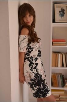Повседневные платья PUR PUR 01-589 белый с принтом фото 4