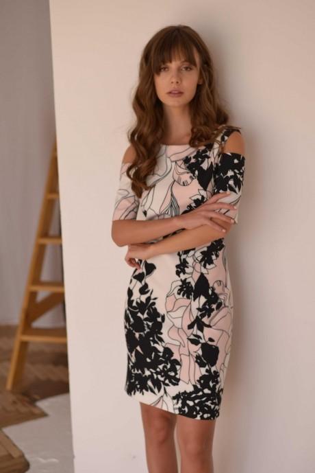 Повседневные платья PUR PUR 01-589 белый с принтом