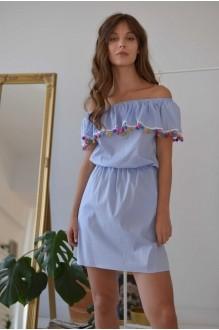 Летние платья PUR PUR 01-608 небесно-голубой фото 1