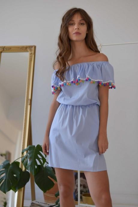 Летние платья PUR PUR 01-608 небесно-голубой