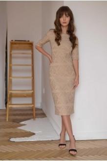 Платья на выпускной PUR PUR 01-587 бежевый фото 1