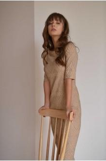 Платья на выпускной PUR PUR 01-587 бежевый фото 3
