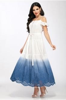 Сарафаны ЛаКона 1126/1 белый с синим фото 1