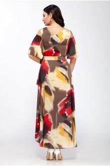 Длинные платья ЛаКона 1112/1 бордо с желтым фото 2