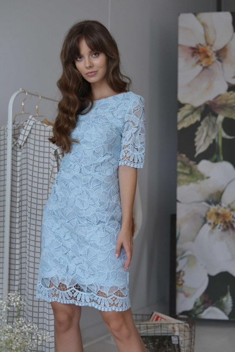 Платья на выпускной PUR PUR 01-581 голубой
