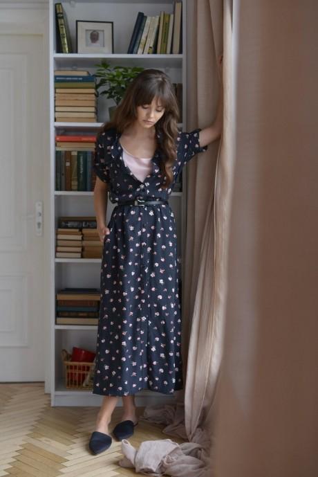 Длинные платья, платья в пол PUR PUR 01-596 асфальтовый